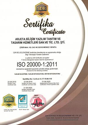 Xlog ISO 20000 Belgesi